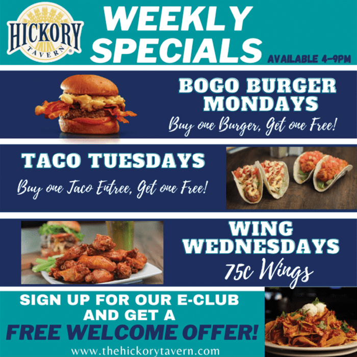 Hickory Tavern Weekly Specials